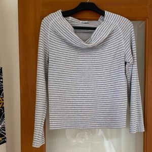 James Perse soft cowl long sleeve top 1